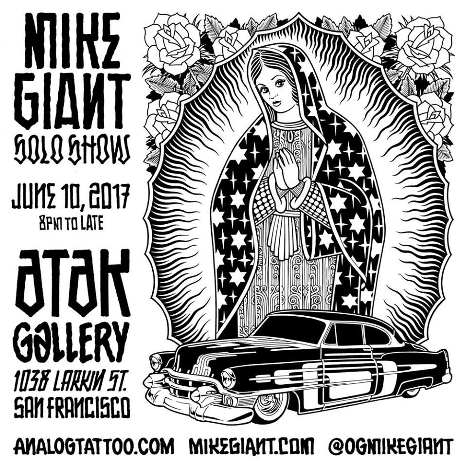 ATAK Gallery: Mike Giant 'Notes From the High Ground' @ ATAK (Analog Tattoo Arts Kolectiv) | San Francisco | California | United States