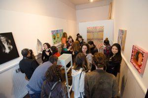 Opening reception for Constructed, instead?, curated by Marcela Pardo Ariza at residence/SF, the initial project space, May 2016. Courtesy of R/SF projects.