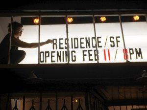 Co-Founder Kaitlin Trataris at residence/SF, February 2016. Courtesy of R/SF projects.