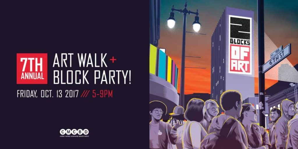 The 7th Annual 2 BLOCKS OF ART art walk and block party